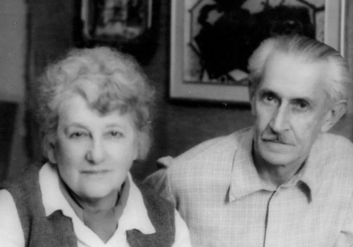 Роман Сельський із дружиною Марґіт Сельською-Райх. Світлина 1970-х рр.