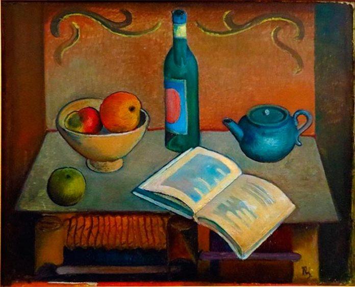 Роман Сельський, «Натюрморт із книгою», 1926