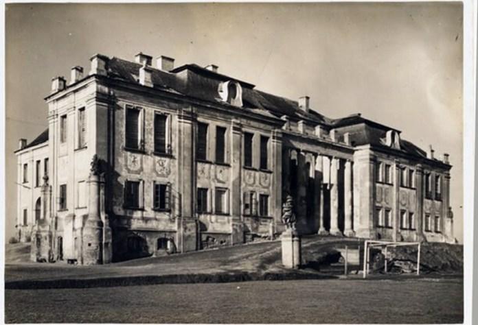 Палац Любомирських, яким його побачив фотограф Стефан Плятер-Зиберк, 1927 рік