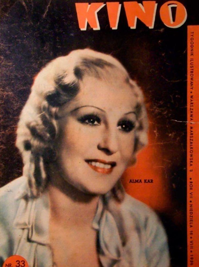 Альма Кар на обкладинці журналу «Кіно», 1936 р.