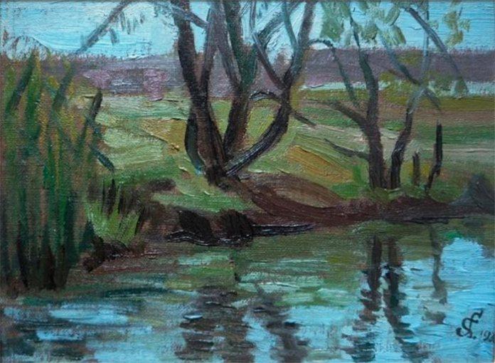 Стефанія Ґебус-Баранецька. Над річкою, 1933