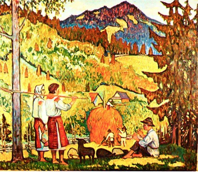 Степан Луцик. Сінокоси на Гуцульщині, 1931