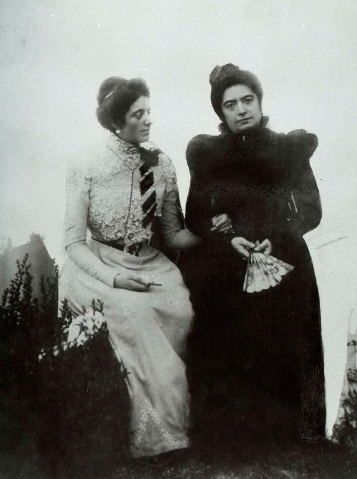 Соломія Крушельницької та Фауста Креспі. Мілан, 1896 рік.