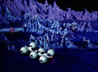 Декорації, створені за участю Олександра Климка для павільйону «Футурама» Всесвітньої виставки 1964 р.