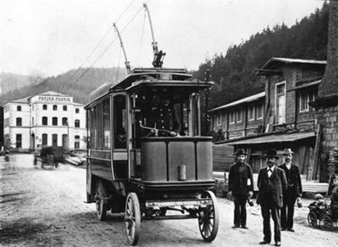 Тролейбус у швейцарському місті Вільньов, удосконалений Шимманом