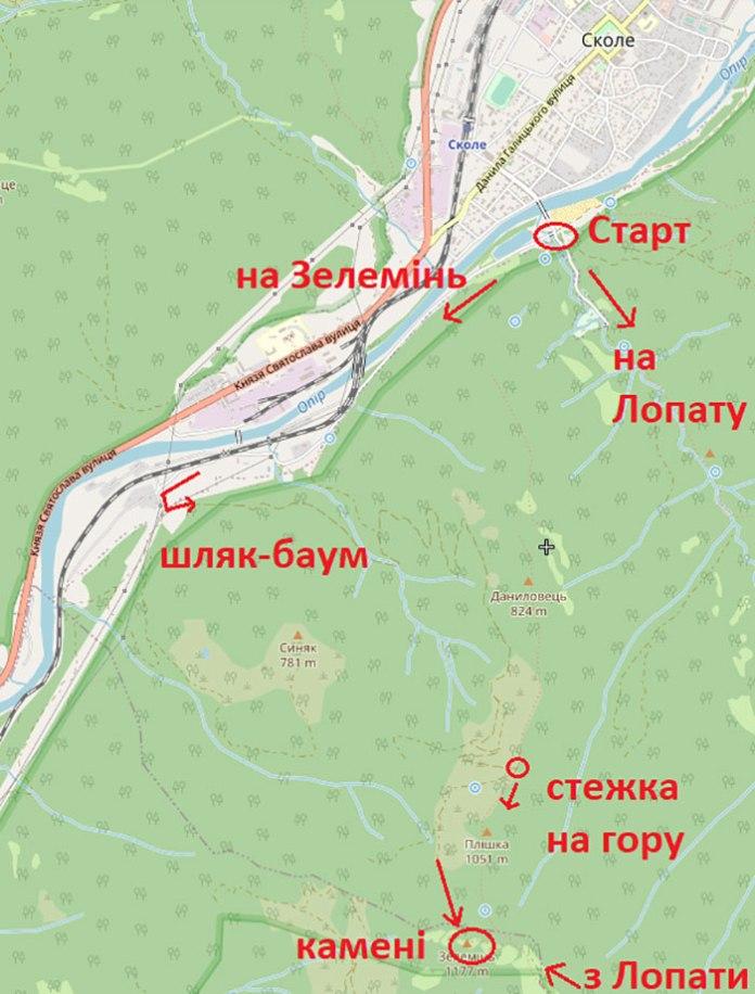 Наш маршрут на карті