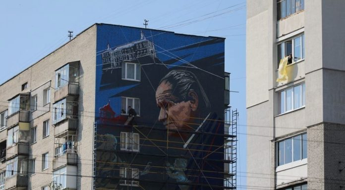 Мурал із зображенням Бориса Возницького