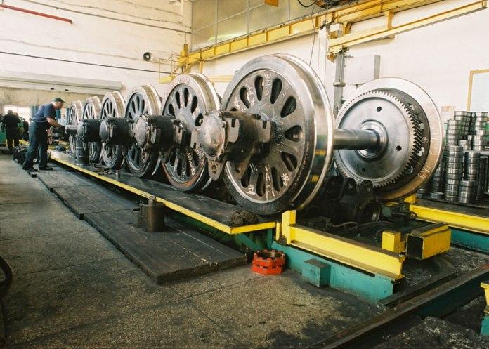 Відремонтовані колісні пари локомотивів. Фото 2017 р.