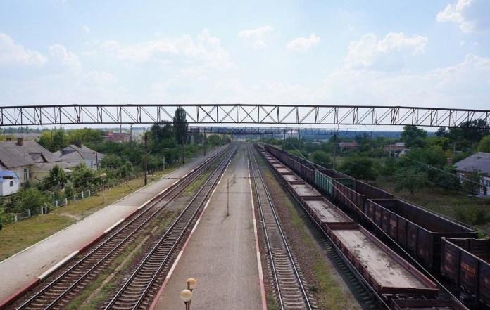 Станція Гнівань. Вигляд в сторону Жмеринки. Сучасне фото.