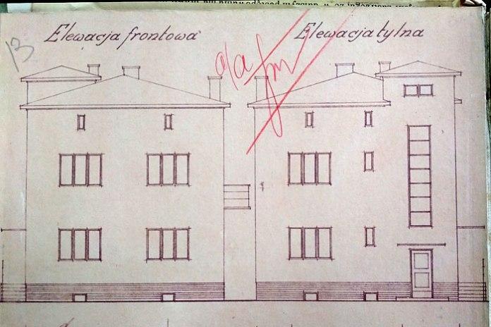 Проект будинку для Юзефа Новака, вулиця Львівська, не зберігся