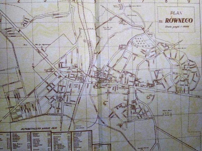 План Рівного 1938 року, де позначено вулицю Підкова (ліворуч угорі)