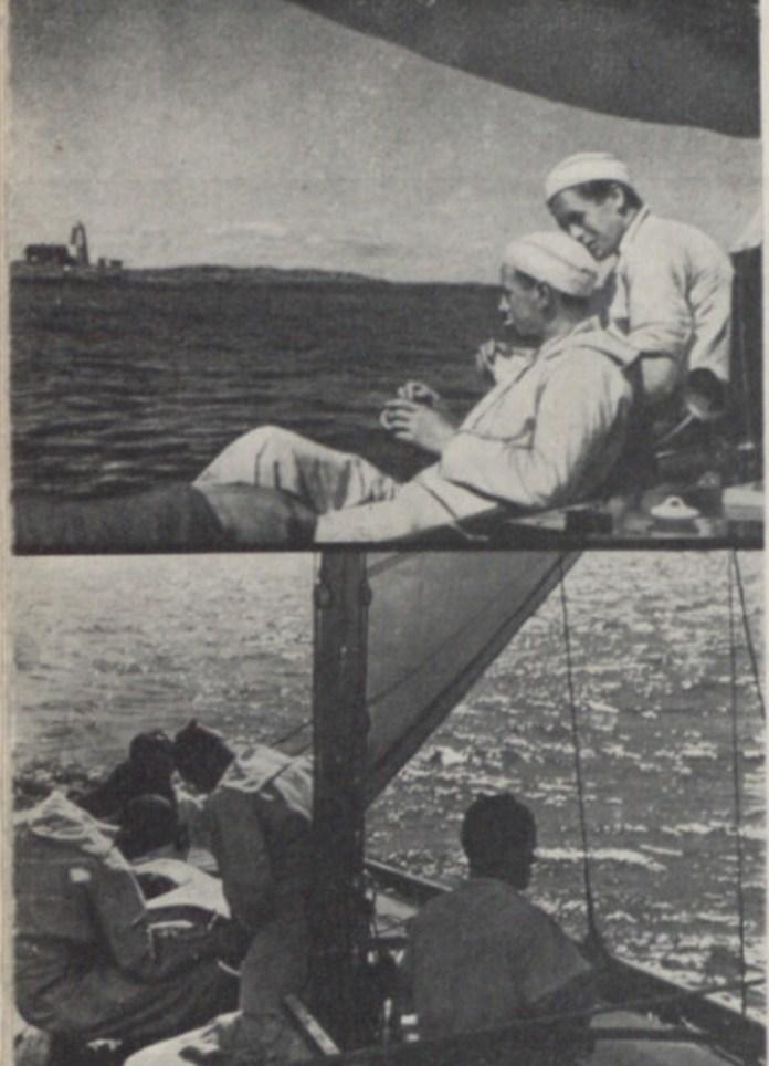 Фото яхтсменів із подорожі Скандинавією.