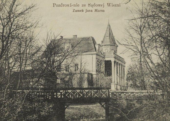 Листівка із Судової Вишні. Замок Яна Марса, 1902 р.