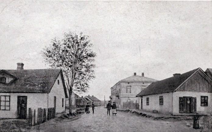 Вулиця в Судовій Вишні, 1906 р.