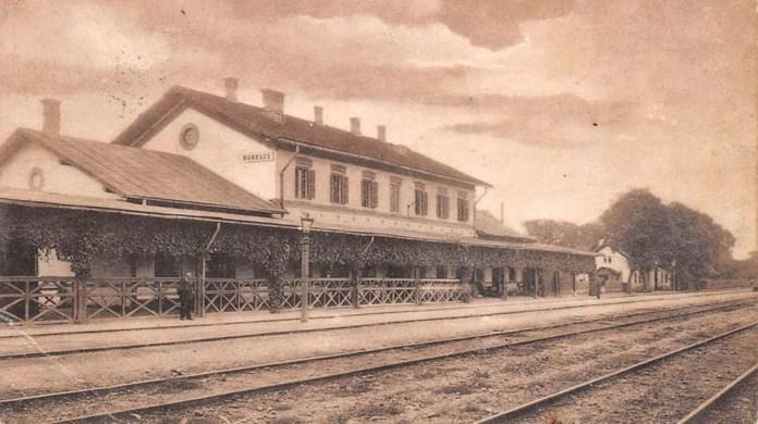 Залізнична станція Мукачеве. Фото початку ХХ століття