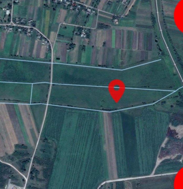 Місце падіння літака на сучасній карті