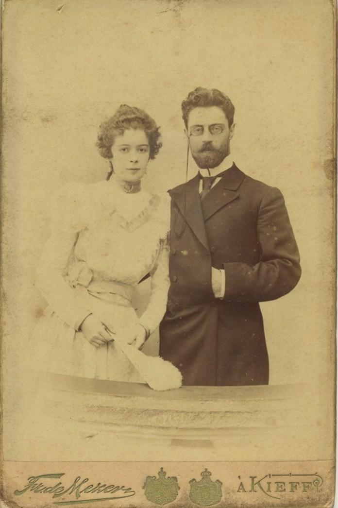 Микола Десницький з дружиною Євгенією. Фото 1900 року. З архіву Наталі Лащук, Рівне