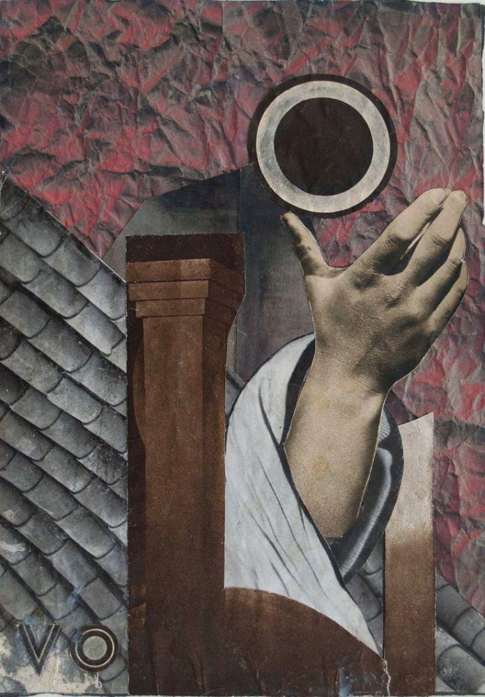 Марґіт Сельська, композиція з рукою, фотоколаж 1934 р.
