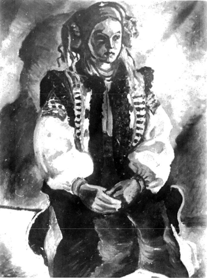 Володимир Ласовський. Гуцулка. Жаб'є, 1930