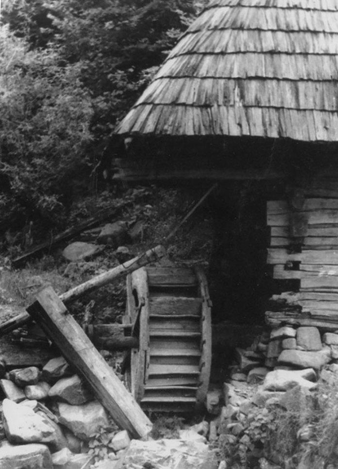 Чар старих фотографій… Старий млин, неподалік м. Хуст. Світлив Олександр Кіцера, 1960 рік.