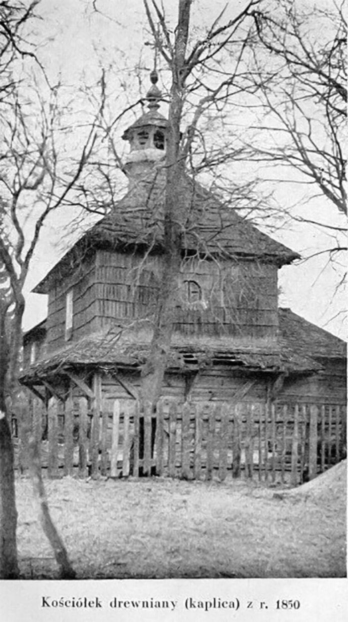 Брюховичі, дерев'яний костел (капличка) з 1950 року