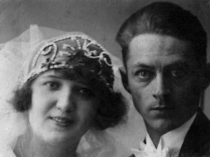 Шлюбна світлина Ярослава Середи і Ольги Цапінської, Львів, 1928 рік