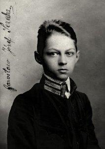 Юний Ярослав, учень гімназії у Самборі, 1916 рік