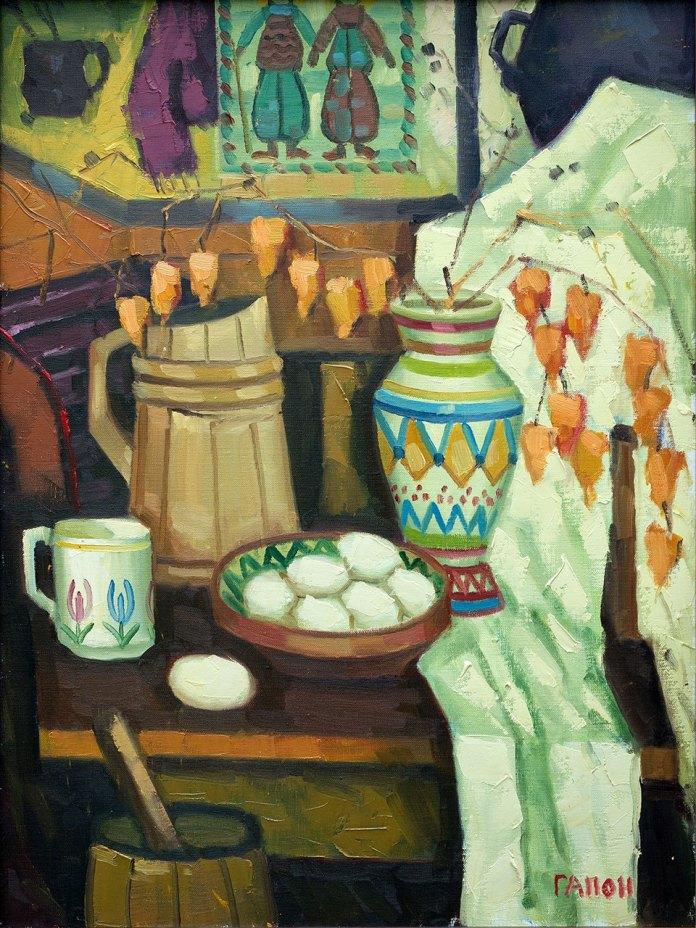 Робота з експозиції виставки живопису Ігоря Гапона