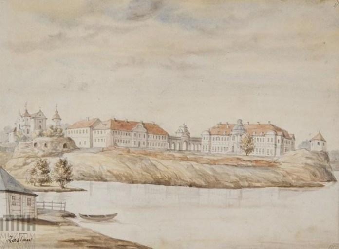 Ізяслав, палацовий комплекс на малюнку Орди