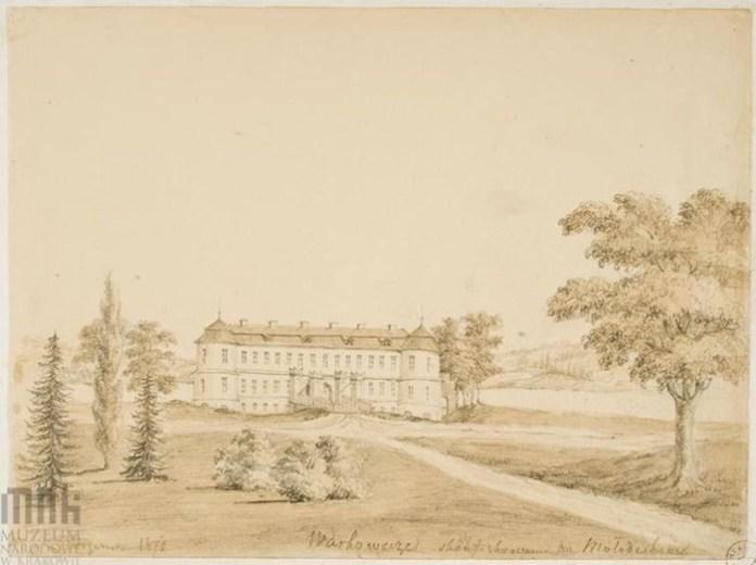 Варковичі Дубенського району, палац Млодзецьких, не зберігся