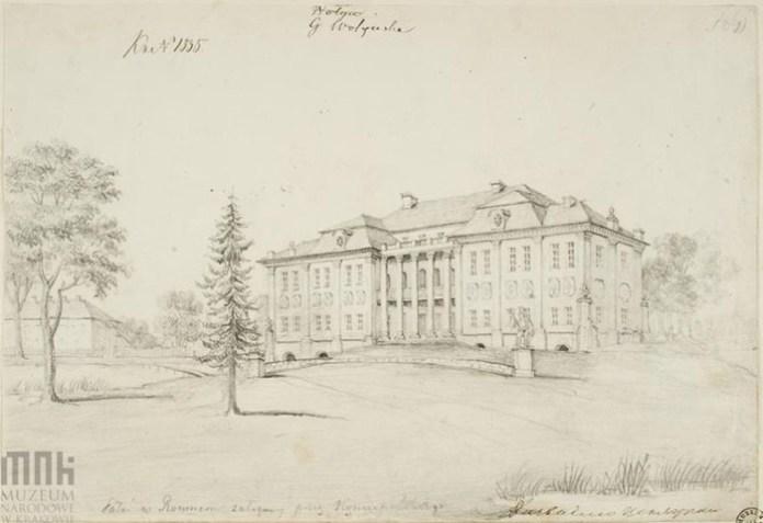 Наполеон Орда. Палац Любомирських Рівне. малюнок