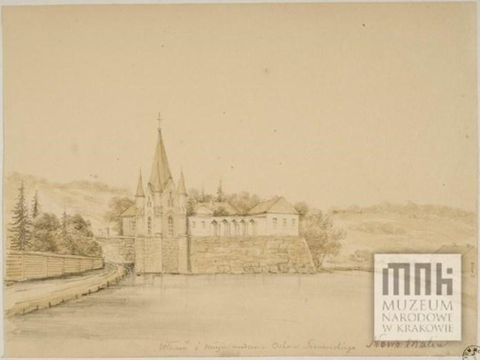 Новомалин. палац, вид з іншого ракурсу