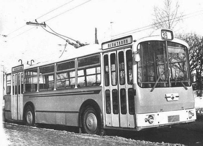 Експериментальний тролейбус-прототип ЛАЗ-698Т. Кінець 1960-х років