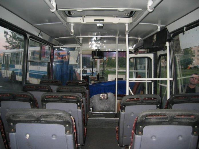 Салон малого міського автобуса ЛАЗ А073