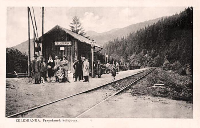 Cтанція Зелем'янка. Поштівка початку ХХ століття