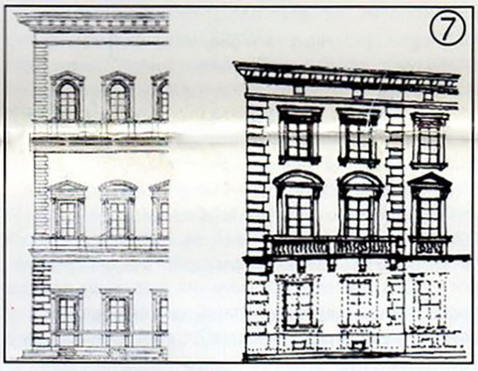 Фасад будинку на площі Міцкевича, 10