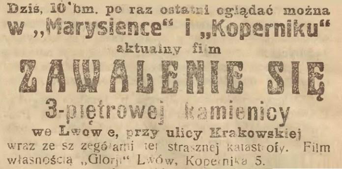 Оголошення у газеті «Słowo Polskie». №127