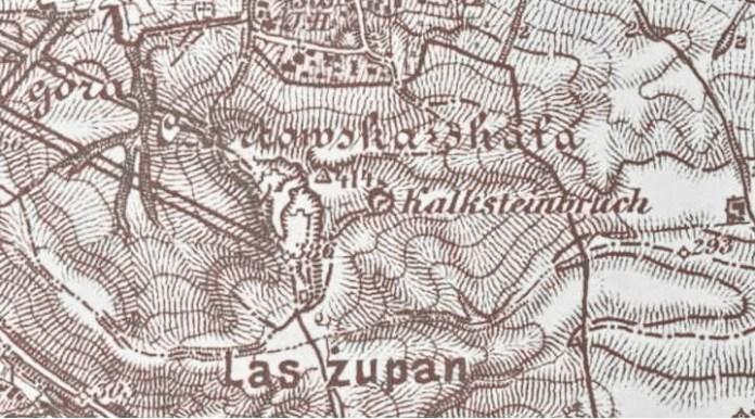 Мапа Чортових скель 1897 року