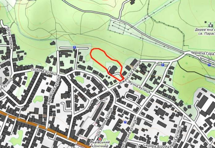 Місце на мапі, де знаходилася копальня