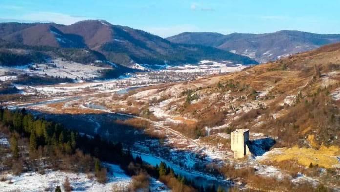 Панорама села Довге - усе мало бути під водою. Автор Володимир Суський