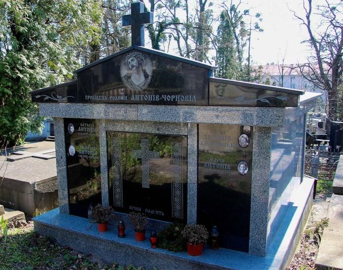 Гробівець родини Антонів - Чорновіл. Янівський цвинтар.