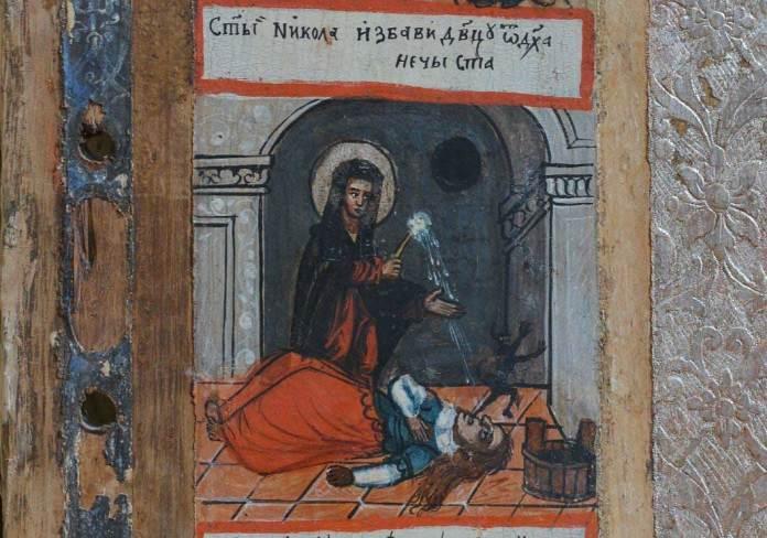 Ікона Святого Миколая Мирлікійського Чудотворця із історією життя