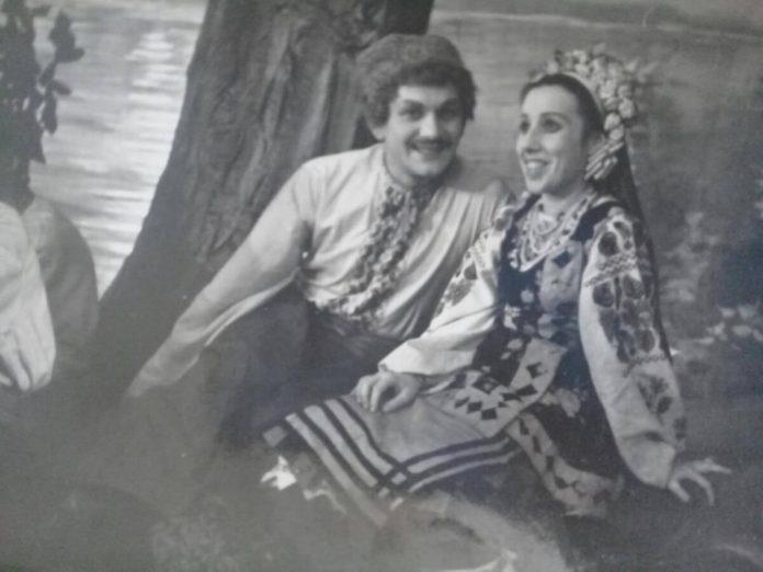 Алла Логошовець особливо любила українську класику. На сцені театру, 1958 рік