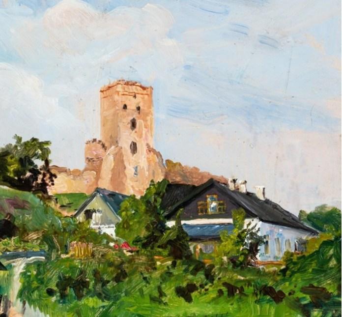 Станіслав Батовський-Качор «Надбрамна вежа в Луцьку», 1937 р.