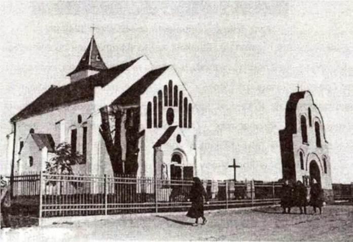 Костел Св. Петра і Павла. Рясна Польська, 1935 р. (Джерело: fotopolska.eu)