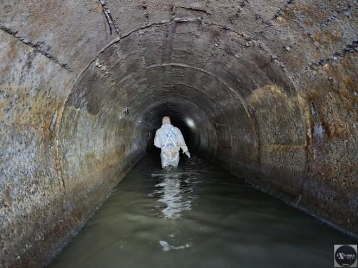 Це рівень води в горизонтальних ділянках тунелю