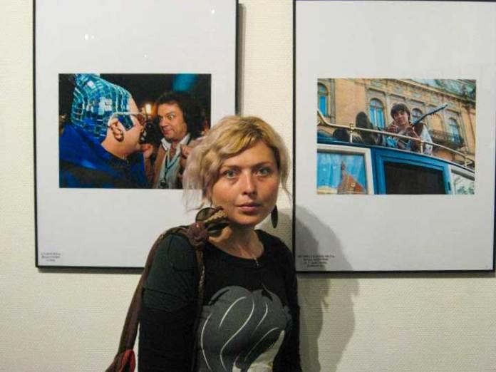 Дарія Альошкіна на фотовиставці в Києві, 2011 р.