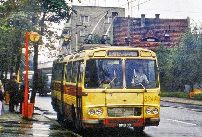 Тролейбус «Škoda Т11» на випробуваннях у польському місті Гдиня. Фото 1976 р.