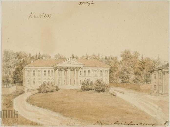 Млинівський палац і парк на малюнку Наполеона Орди, 1860-1870-і роки