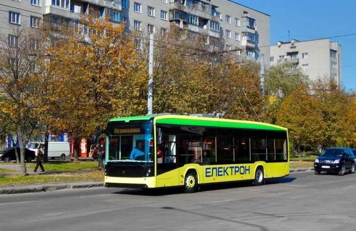Випробовування першого тролейбуса «Електрон» Т191.01. 10 жовтня 2014 р. Автор фото – Володимир Саванчук